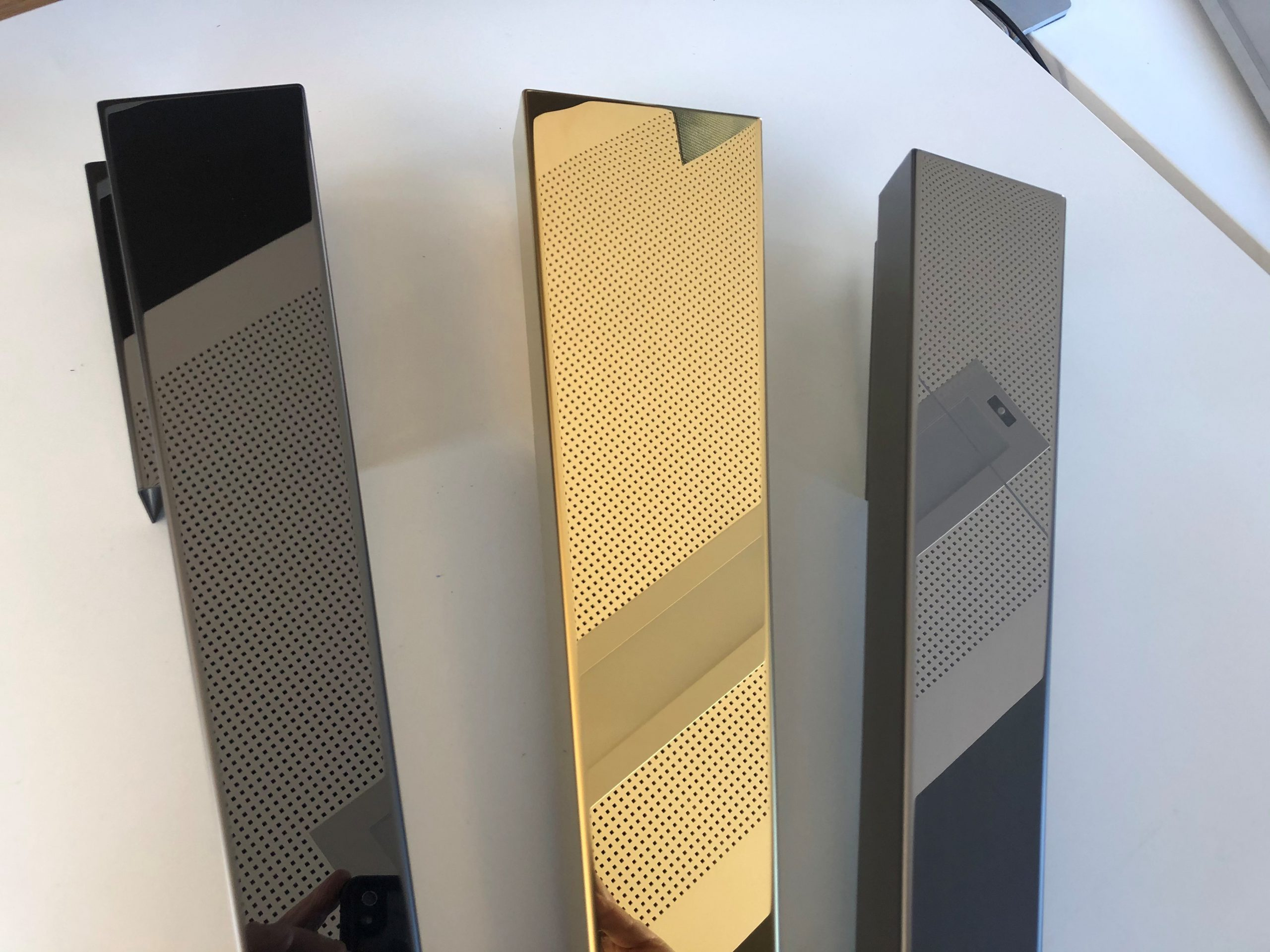 Edelstahl black-gold mirror PVD Tin