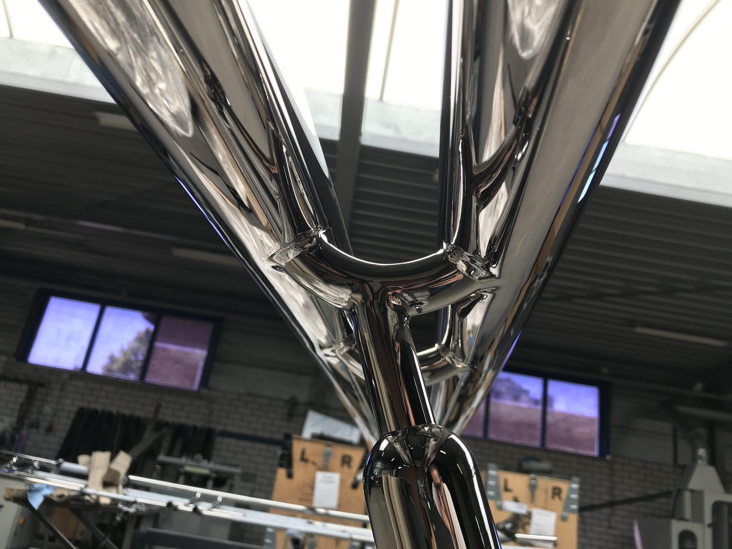 Geländer Bauteile spiegelpoliert Mirror 8 edelstahl