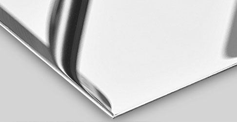 Hochglanzpolieren von Blechen (Spiegelbleche aus Edelstahl)