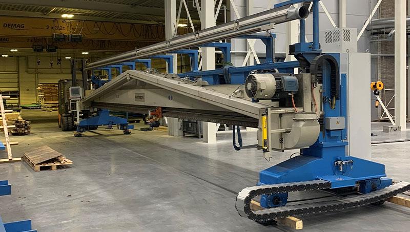 Der bestehenden Maschinen, die umgezogen wurden, um Platz für die neue Maschine zu machen.